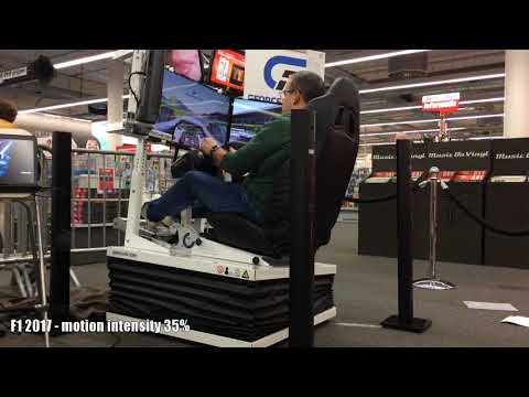 Full motion simulator (6DOF) Gforcefactory EDGE 6D at Media Markt Amsterdam ArenA