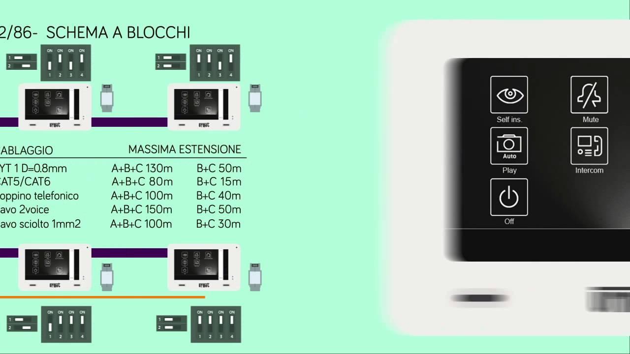 Schema Elettrico Urmet 2 Voice : Urmet kit mini note 1722 85 tutorial ita youtube