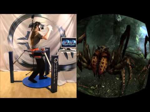 My Skyrim in VR   Cyberith Virtualizer + Oculus Rift + Wii Mote Cut