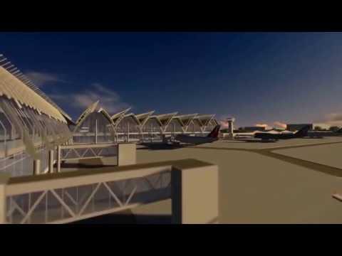 The new international airport in Cebu Mactan
