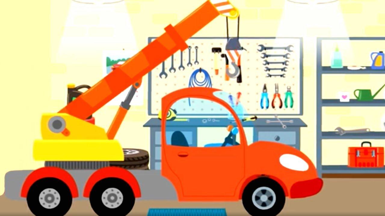 Котенок и волшебный гараж – Автокран – Мультфильм про ...