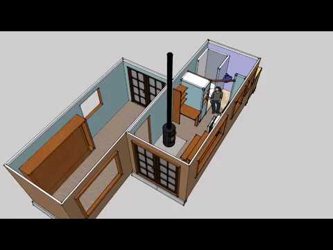 shipping container home 2x20 youtube. Black Bedroom Furniture Sets. Home Design Ideas