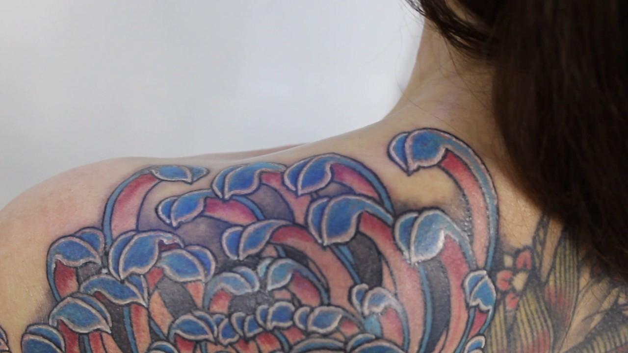 Chavatattoo японская татуировкахризантемаjapanese Tattooirezumi Kiku