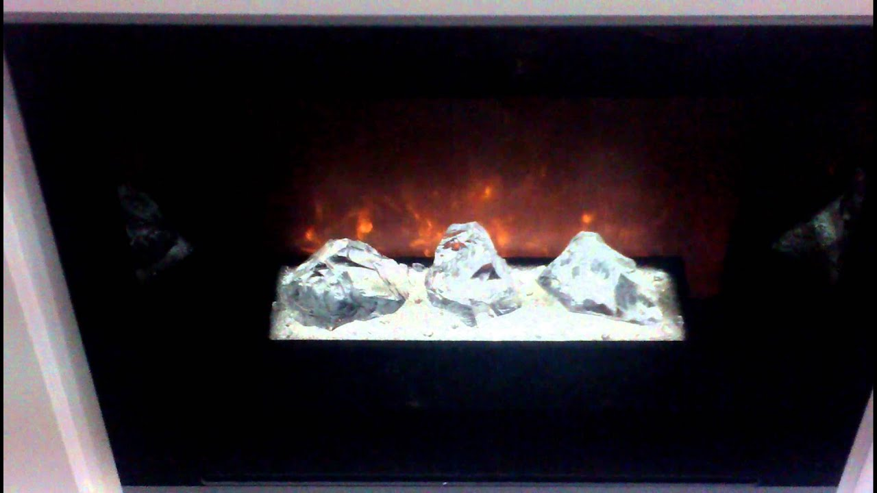 homefire hf42 with crystal glass modern flames electric