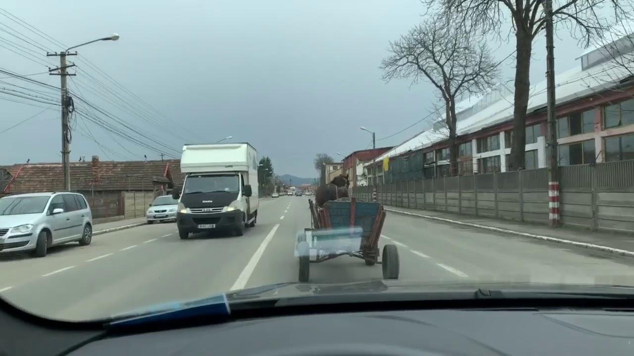 Pericol public! Cu căruța, pe drum european, la Câmpia Turzii! (20.03.2019)