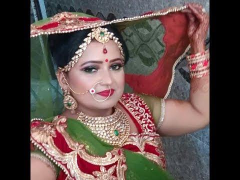 Own green eye bridal makeup 2017 { Hindi }
