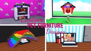 8 Custom PET FURNITURE Design Ideas & Building Hacks (Roblox Adopt me) Part Two | Its SugarCoffee
