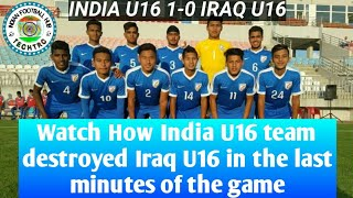 How India destroyed defending Asian U16 champions in One minute.