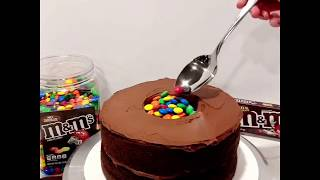 Candy-Filled M&Ms Drip Cake