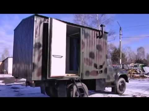 Mobile Shower for Ukrainian Soldiers: West Ukraine businessmen construct mobile shower in dump truck