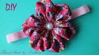 Faixa com flor de tecido – Modelo Kanzashi
