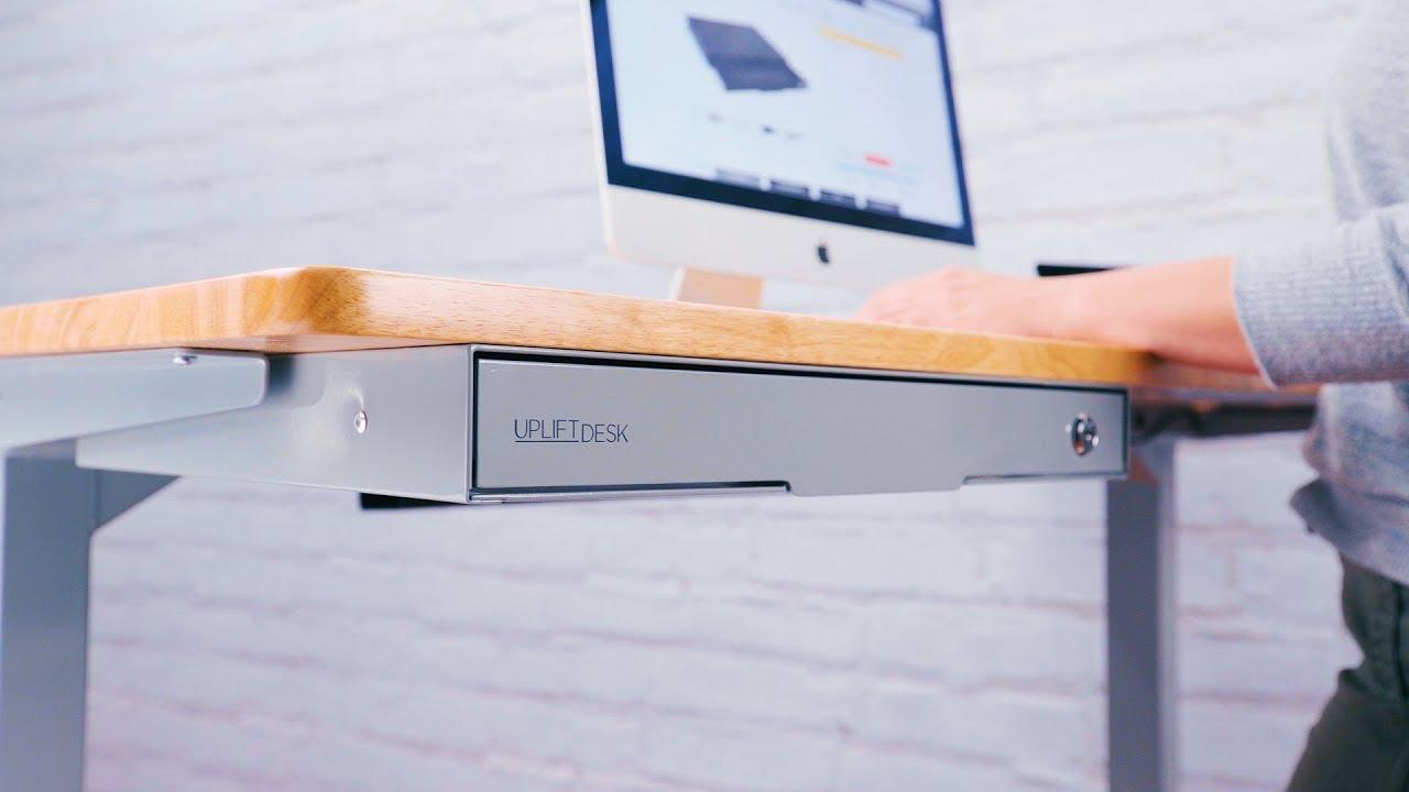 Slim Under Desk Storage Drawer By Uplift