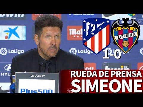 Atlético 1-0 Levante | Rueda de prensa de Simeone | Diario AS