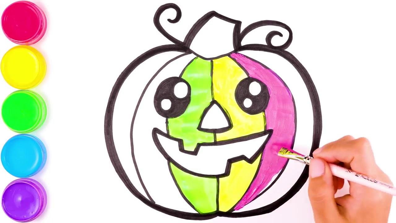 Джек тыква рисунок и раскраска для детей - YouTube