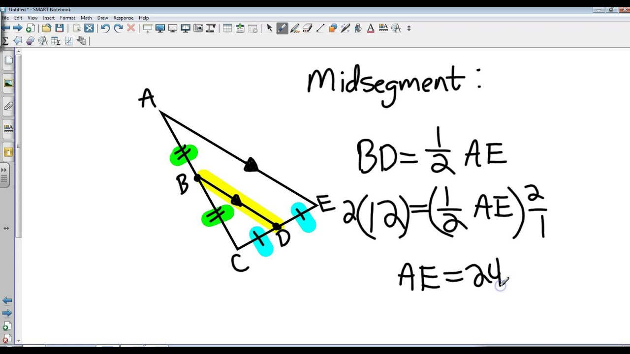 Geometry 7 4 Parallel Lines And Proportional Parts Youtube