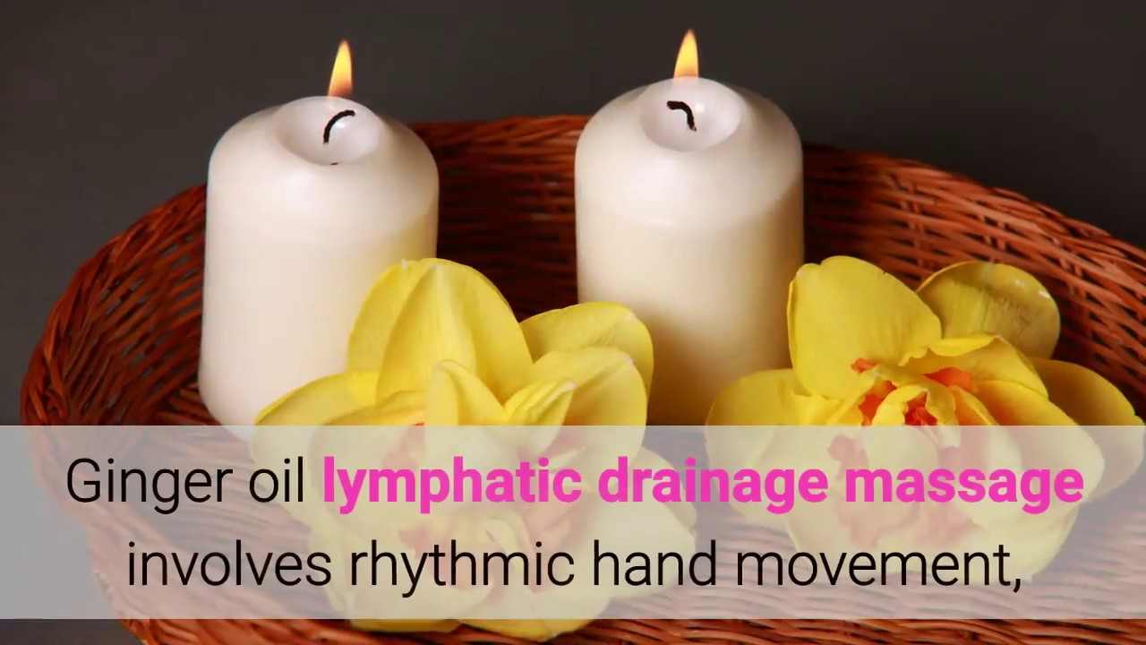 NEW Spa PURE Herbal Lymphatic Drainage Essential Ginger Oil