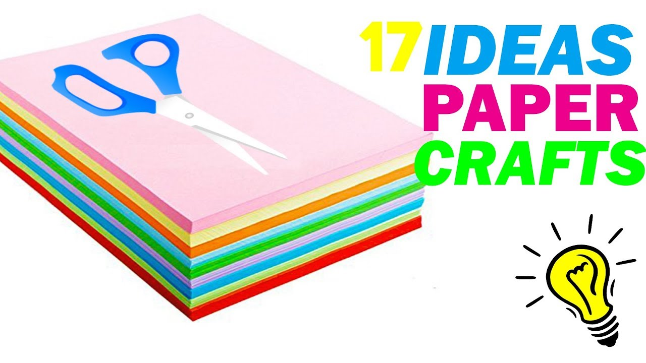 How To Make Paper Things Diy Paper Craft Ideas Youtube