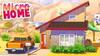 I TRIED THE TINY LIVING MICRO HOME CHALLENGE🌞🌵 // THE SIMS 4   SPEED BUILD