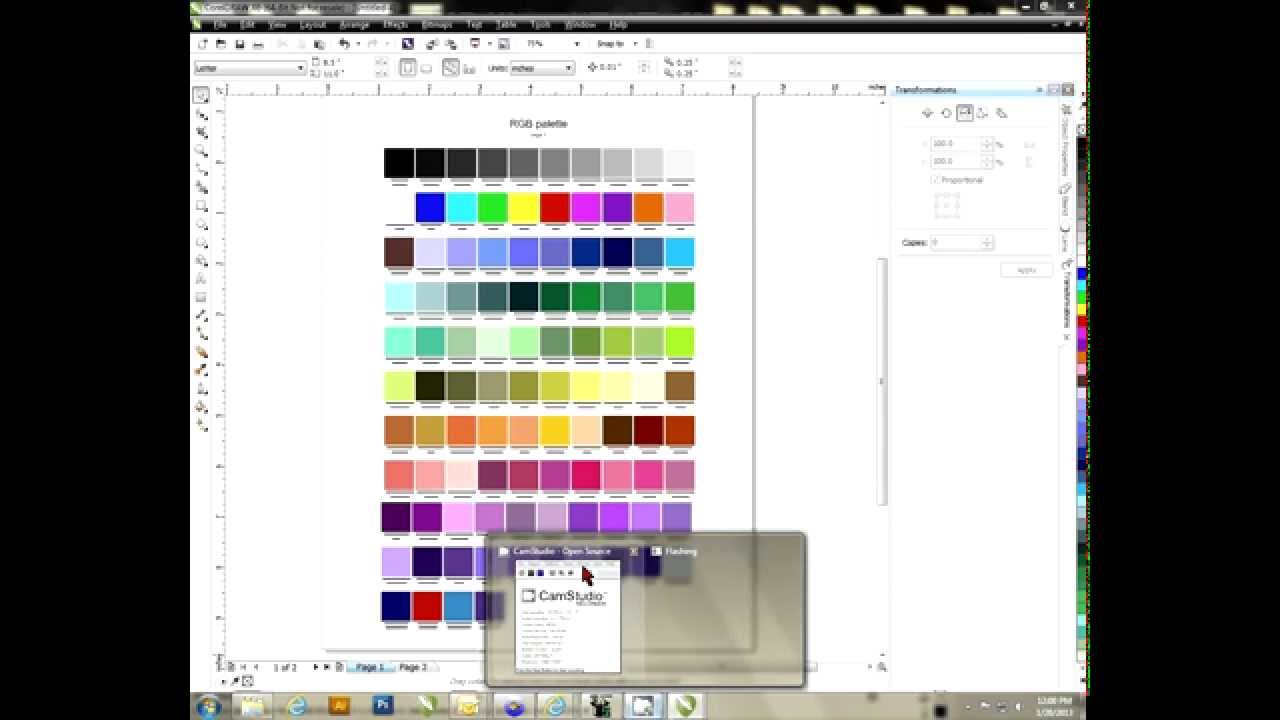 Creating a color palette in coreldraw youtube ccuart Image collections