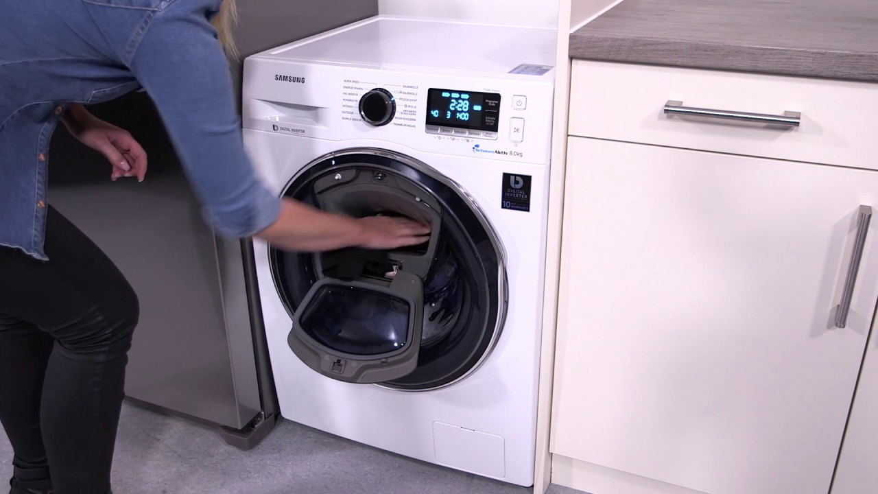 Samsung addwash: addwash funktion youtube