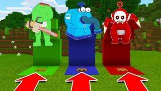 Minecraft PE - DO NOT CHOOSE THE WRONG TRAP DOOR! (Dipsy, NooNoo & Po Slendytubbies)