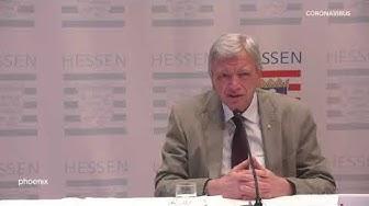Hessen: Statement Ministerpräsident Volker Bouffier nach Beratungen mit dem Bund
