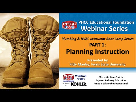 Plumbing & HVAC Instructor Boot Camp, Part 1 - Planning Instruction