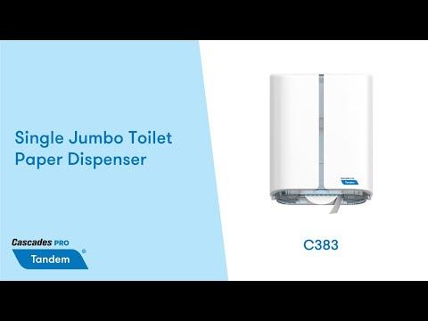 Single Jumbo Toilet Paper Dispenser - Cascades PRO Tandem (C383)