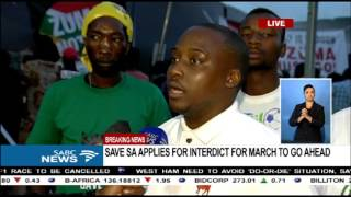 BREAKING NEWS: Save SA applies for interdict for march to go ahead