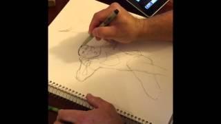 Drawing Hawkeye pt1
