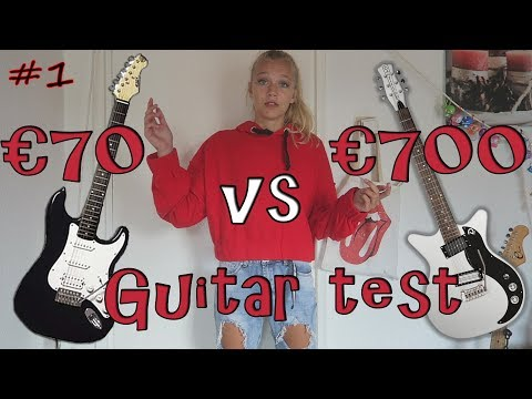 €70 Vs €700 GITAAR (Afke's Music Channel #1)