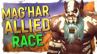 5 NEW CLANS MagHar Orc Allied Race  Upright Orc Preview WoW Battle for Azeroth