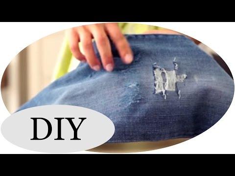 diy ripped jeans funnycat tv. Black Bedroom Furniture Sets. Home Design Ideas