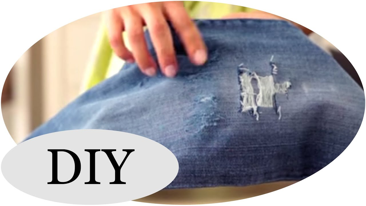 diy coole destroyed jeans selber machen tutorial youtube