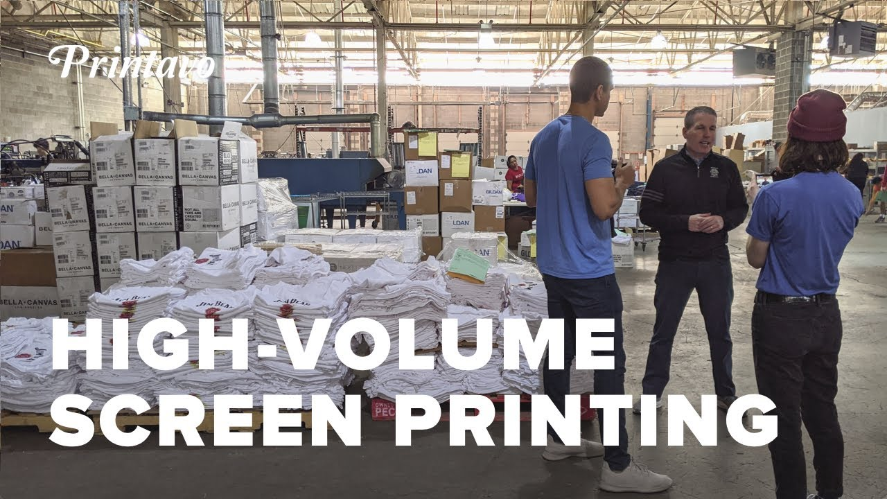 Marathon Sportswear Shop Tour: High-Volume Automated Screen Printing (With a Human Touch)