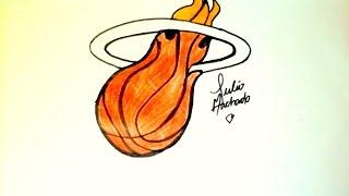 [NBA] How to Draw Miami Heat logo