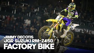 FACTORY BIKE: Jimmy Decotis JGR Suzuki RM-Z450