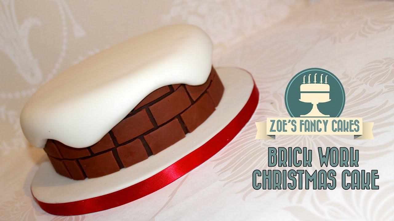 Christmas Cake Ideas For Cake Decorating Chimney Brick