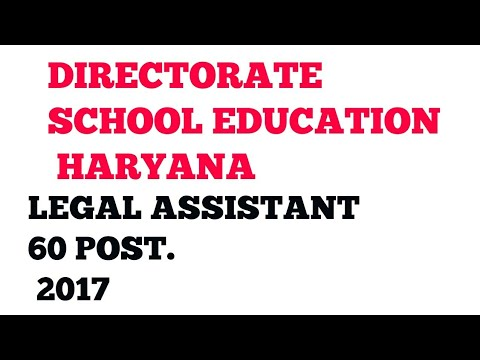 EDUCATION BOARD HARYANA 60 LEGAL ASSISTANT POST 2017