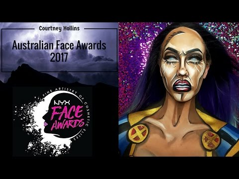 AUSTRALIAN FACE AWARDS ANZ 2017 | NYX PROFESSIONAL MAKEUP| STORM |Entry by Courtney Hollins
