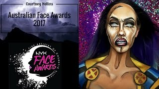 australian face awards anz 2017   nyx cosmetics  storm  entry by courtney hollins