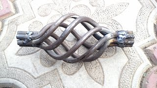 видео Элементы ковки . Кованые элементы из трубы 15х15
