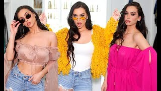 HUGE SPRING FASHION HAUL +TRY ON! Carli Bybel