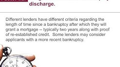 Dallas Mortgage Broker reveals How to Get a Mortgage After Bankruptcy?