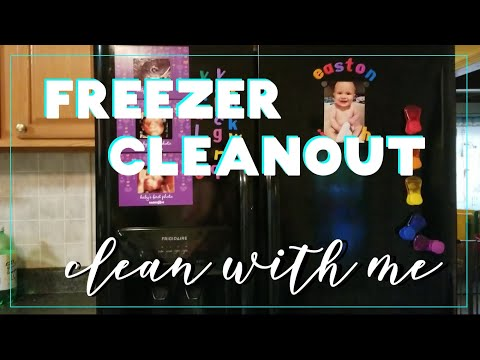CLEAN WITH ME | Freezer Cleanout