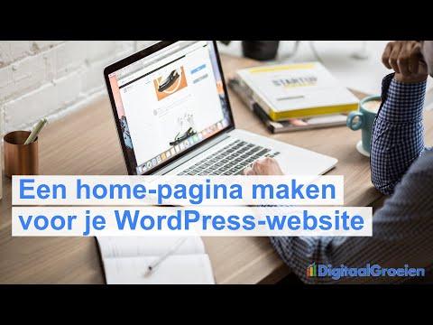Een home-page maken voor je nieuwe WordPress-website