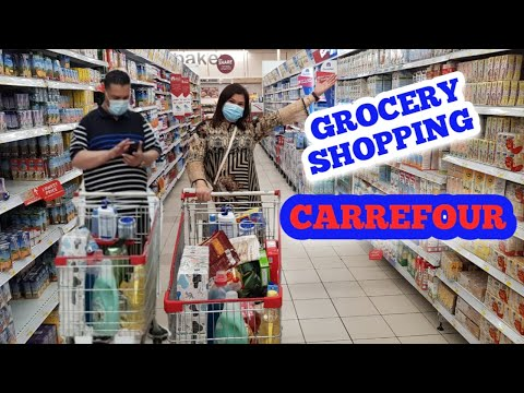 Grocery Shopping  🛒 | Carrefour | Marina Mall | Abu Dhabi |