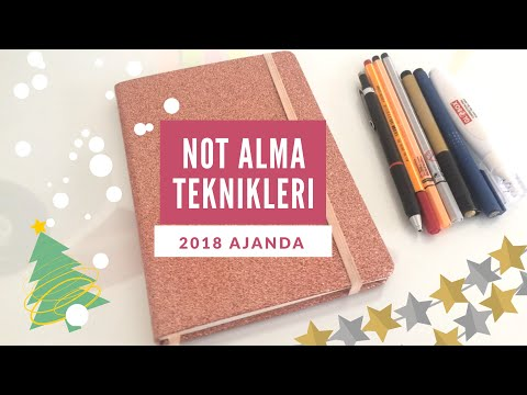 Derste Not Alma Teknikleri | 2018 Ajanda İncelemesi