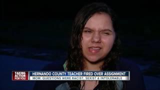 Hernando Co. teacher fired over assignment