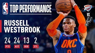 Russell Westbrook MONSTER Triple-Double | January 10, 2019